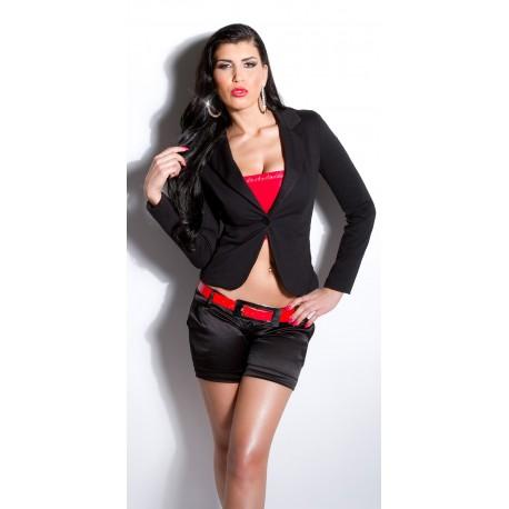 Veste blazer noire femme pas cher cintré avec poches