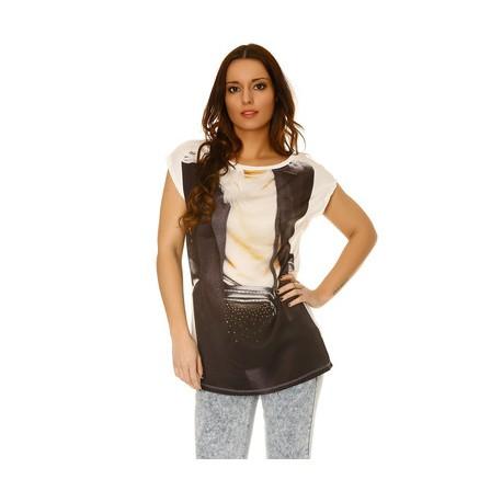 Tee shirt imprimé strass